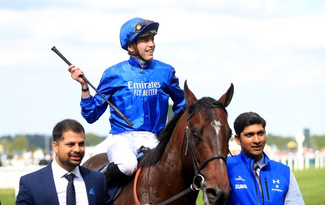 James Doyle celebrates winning the Diamond Jubilee Stakes with Blue Point