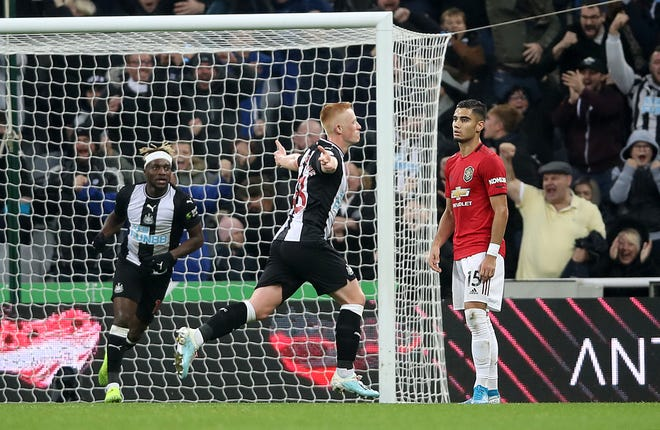 Matthew Longstaff had a Premier League debut to remember with Newcastle's winning goal against Manchester United at St James' Park.