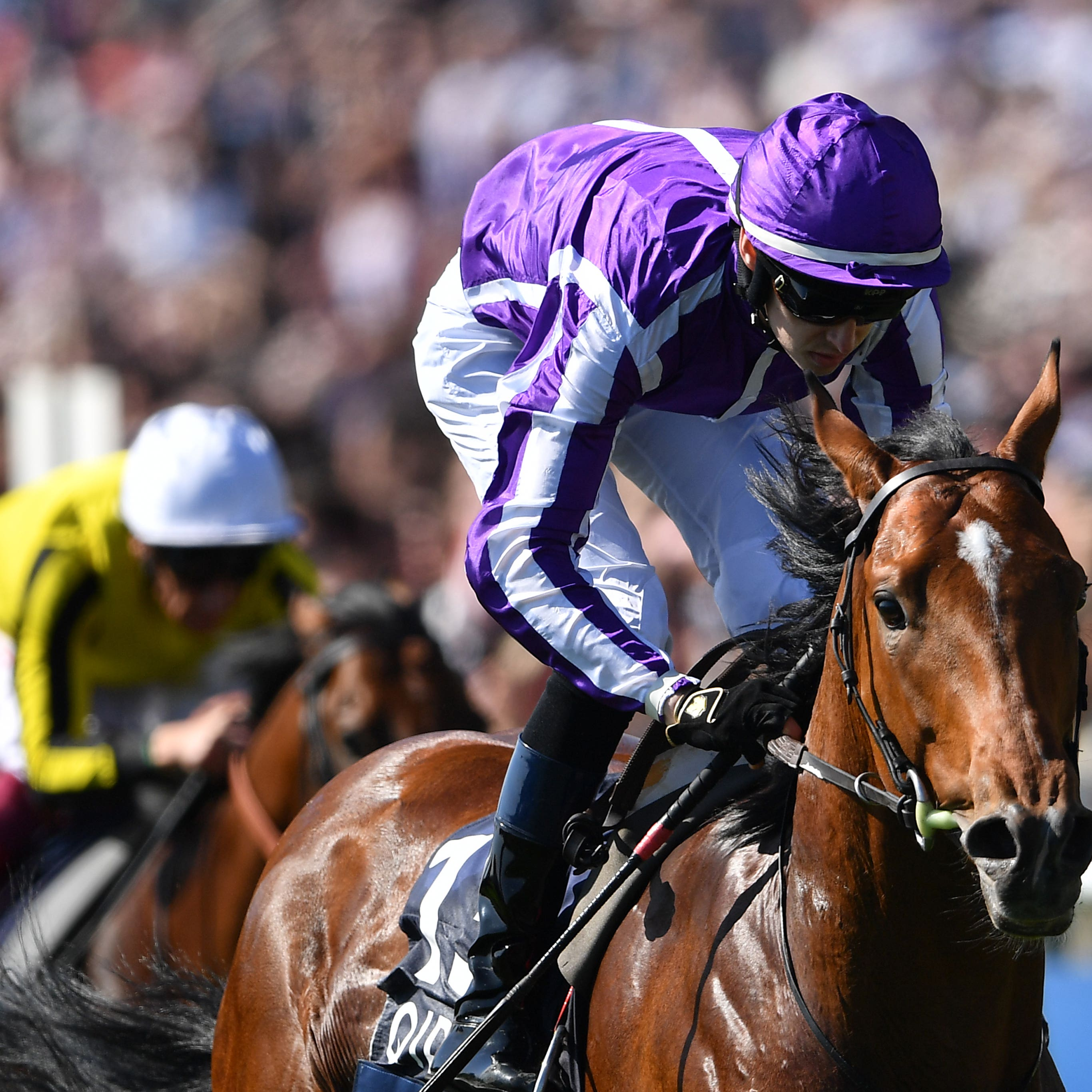 Saxon Warrior (right) takes the 2000 Guineas (Joe Giddens/PA)