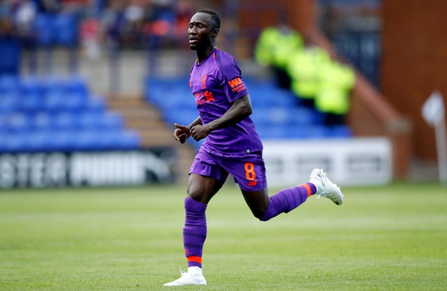 Keita has been in pre-season action for Liverpool after formally completing his move to the club on July 1 (Martin Rickett/PA).