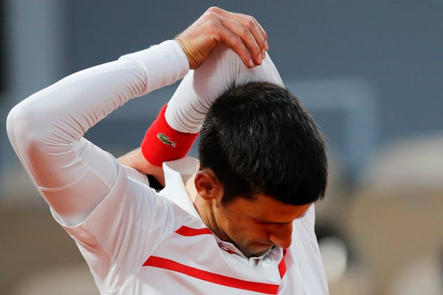 Djokovic said he experienced some shoulder and neck issues during the match (Christophe Ena/AP).