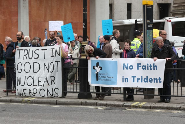 Protests at Westminster Abbey
