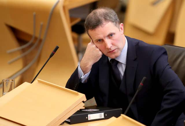 Justice Secretary Michael Matheson was defended by the First Minister