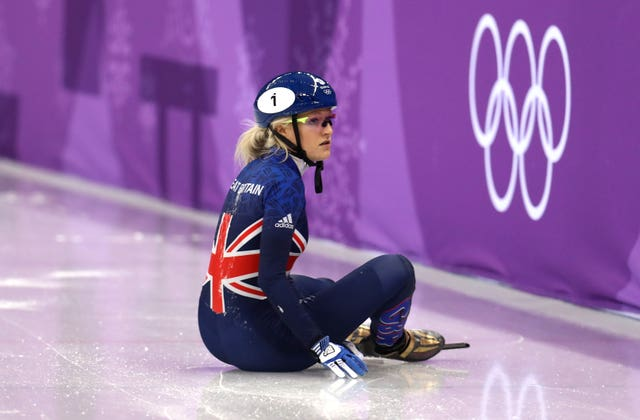 Elise Christie was distraught after crashing out of the 500m final