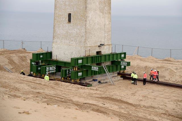 The Rubjerg Knude lighthouse is moved