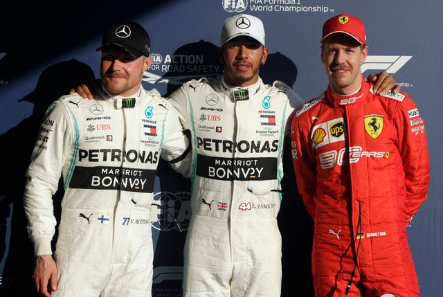 Valtteri Bottas said he enjoyed qualifying after joining Hamilton and Ferrari's Sebastian Vettel on the front row