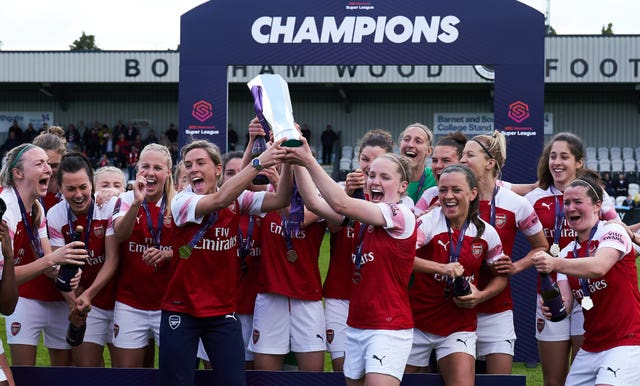 Arsenal were crowned champions of the 2018-19 Women's Super League