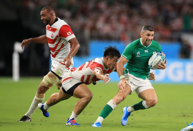 Rob Kearney played at three World Cups, including last year's tournament in Japan