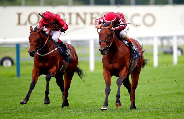 The Lir Jet (left) edged out Golden Pal at Royal Ascot