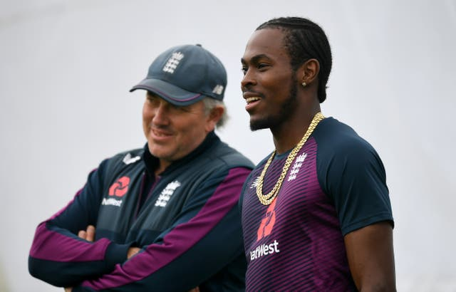 Head coach Chris Silverwood (left) says Jofra Archer (right) returns with a clean slate.
