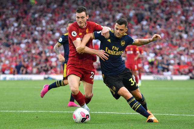 Granit Xhaka (right) is one of Emery's leaders