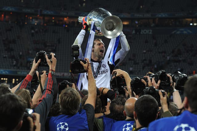 Lifting the Champions League in 2012