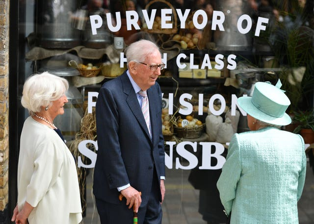 Queen visits Sainsbury's anniversary model