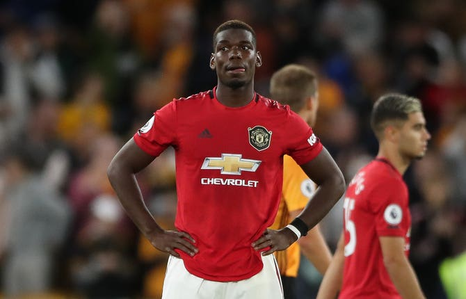Paul Pogba missed a penalty against Wolves on Monday and subsequently received abuse online