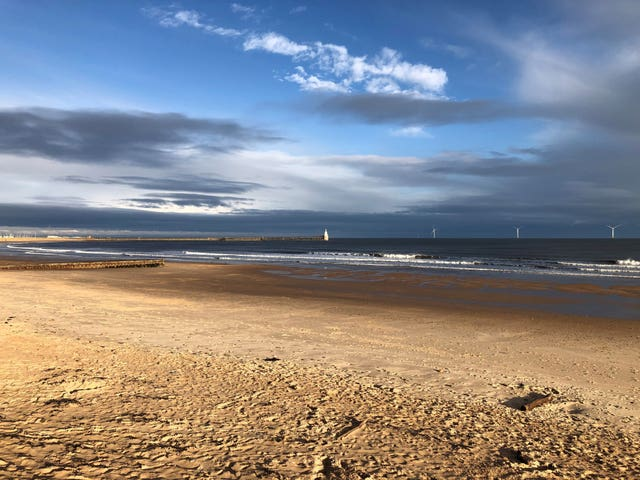 South Beach in Blyth, Northumberland