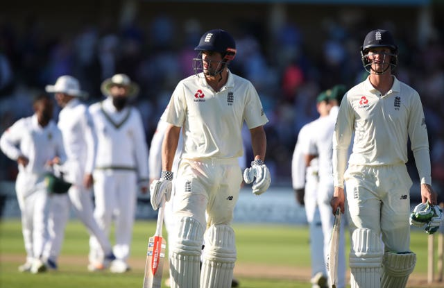 Alastair Cook, left, and Keaton Jennings, right, have opened the batting together for England
