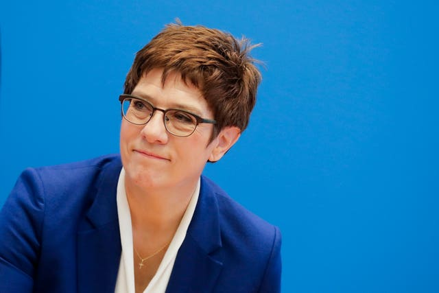 Christian Democratic Union party chairwoman and defence minister Annegret Kramp-Karrenbauer