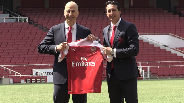 Gazidis led the process which saw Unai Emery appointed as Arsenal head coach.