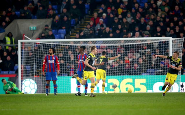 Stuart Armstrong, centre, was on target for Southampton on Tuesday