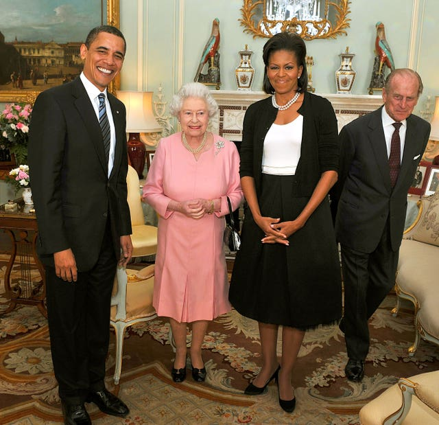 The Obamas and the Queen