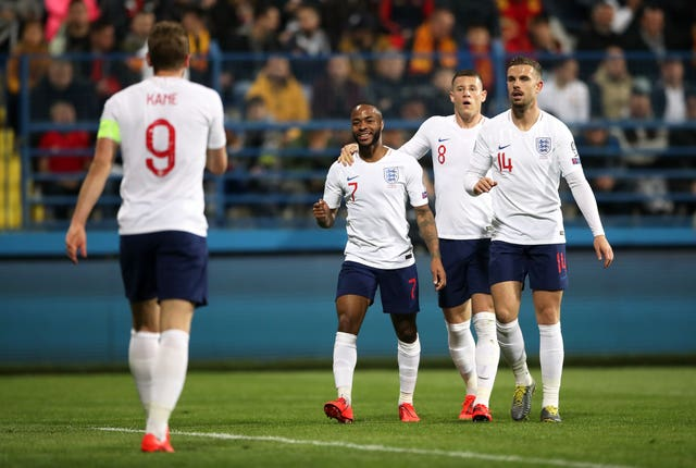 Sterling shone once again for England
