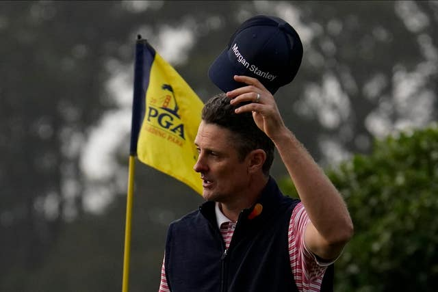 Justin Rose is in joint second place at the halfway stage
