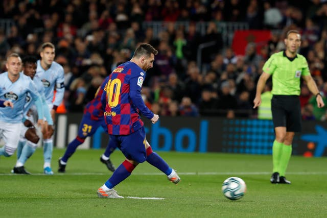 Messi had opened the scoring from the penalty spot