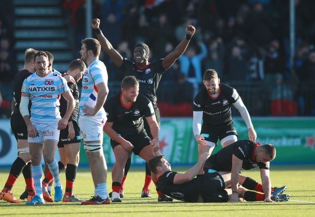 Saracens beat Racing 92 at home last month
