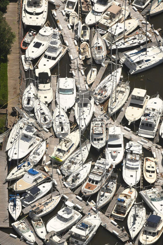 Boats stacked