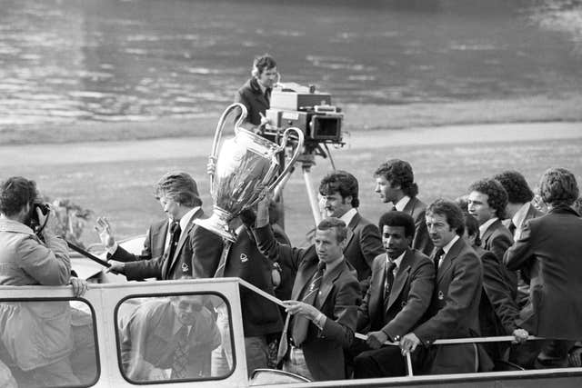 Nottingham Forest parade the European Cup in 1979