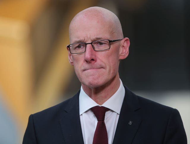 John Swinney makes exam statement