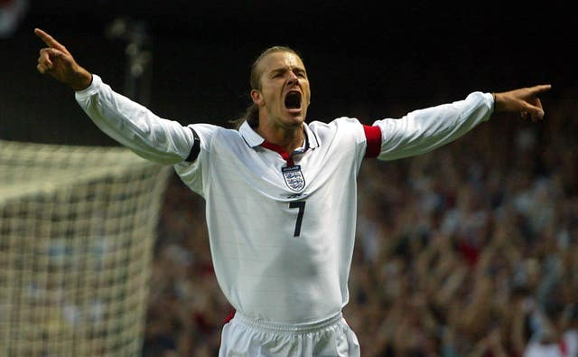 Captain David Beckham scored from the penalty spot as England beat Croatia 3-1 at Portman Road in 2003.