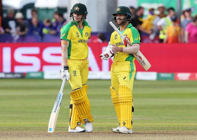 Steve Smith, left, and Warner have been jeered around the grounds (Mark Kerton/PA)