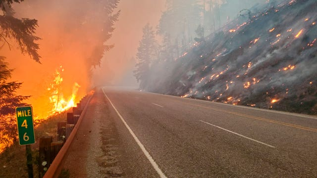 Forest fires in Oregon