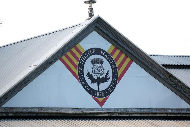 Partick Thistle were relegated from the Scottish Championship
