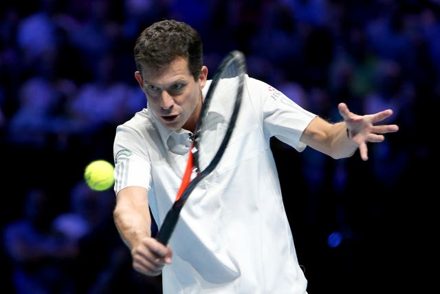 Tim Henman, pictured, recently captained Great Britain at the ATP Cup (Jane Barlow/PA)
