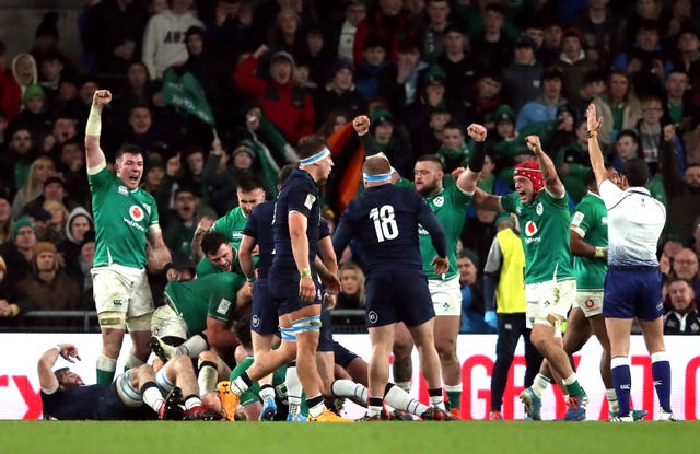 Ireland were 19-12 winners against Scotland in February
