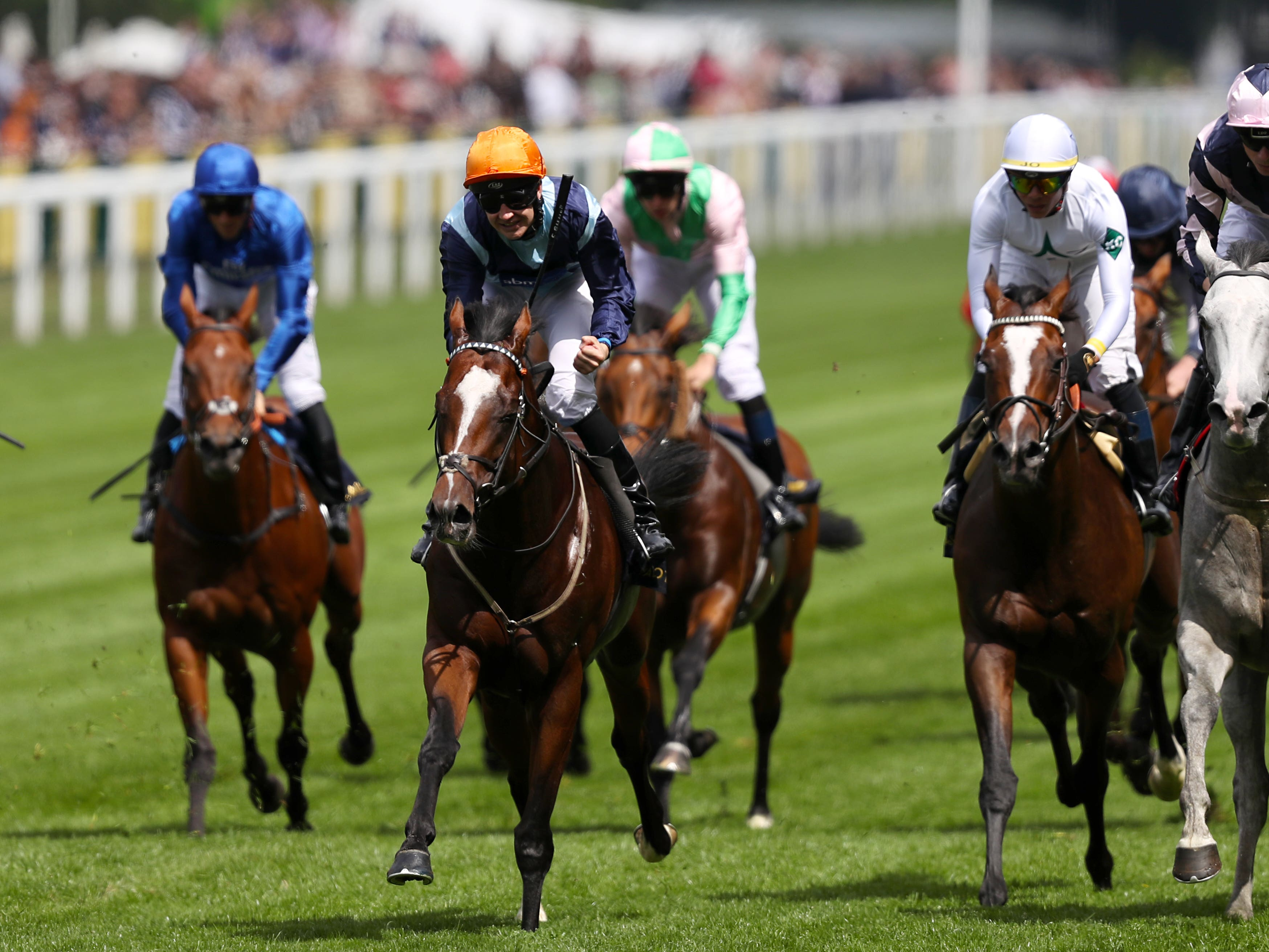Accidental Agent (second left) was a shock winner of the 2018 Queen Anne Stakes at Royal Ascot (Steve Parsons/PA)