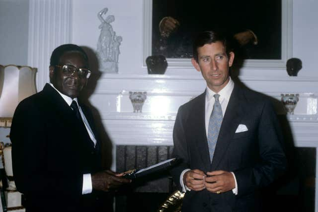Robert Mugabe and the Prince of Wales