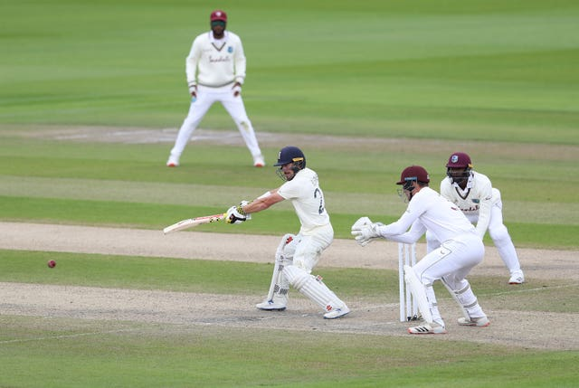 Rory Burns was helping extend England's lead
