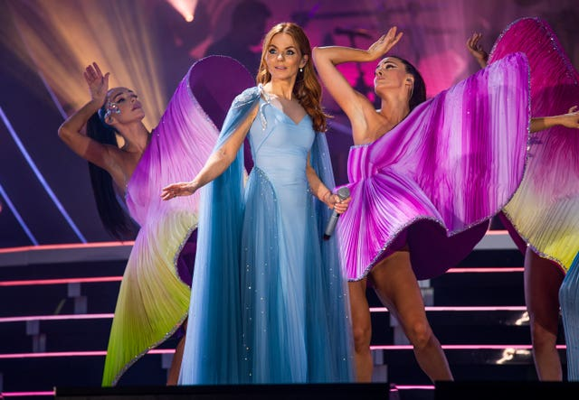 Geri Horner of the Spice Girls in concert at Croke Park in Dublin