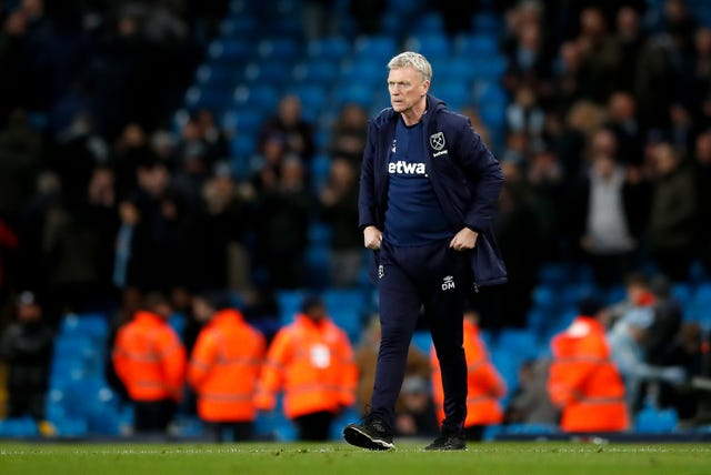 David Moyes was not too downbeat despite West Ham's defeat to Manchester City