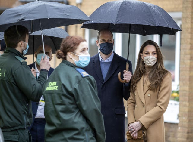 Royal visit to Newham ambulance station