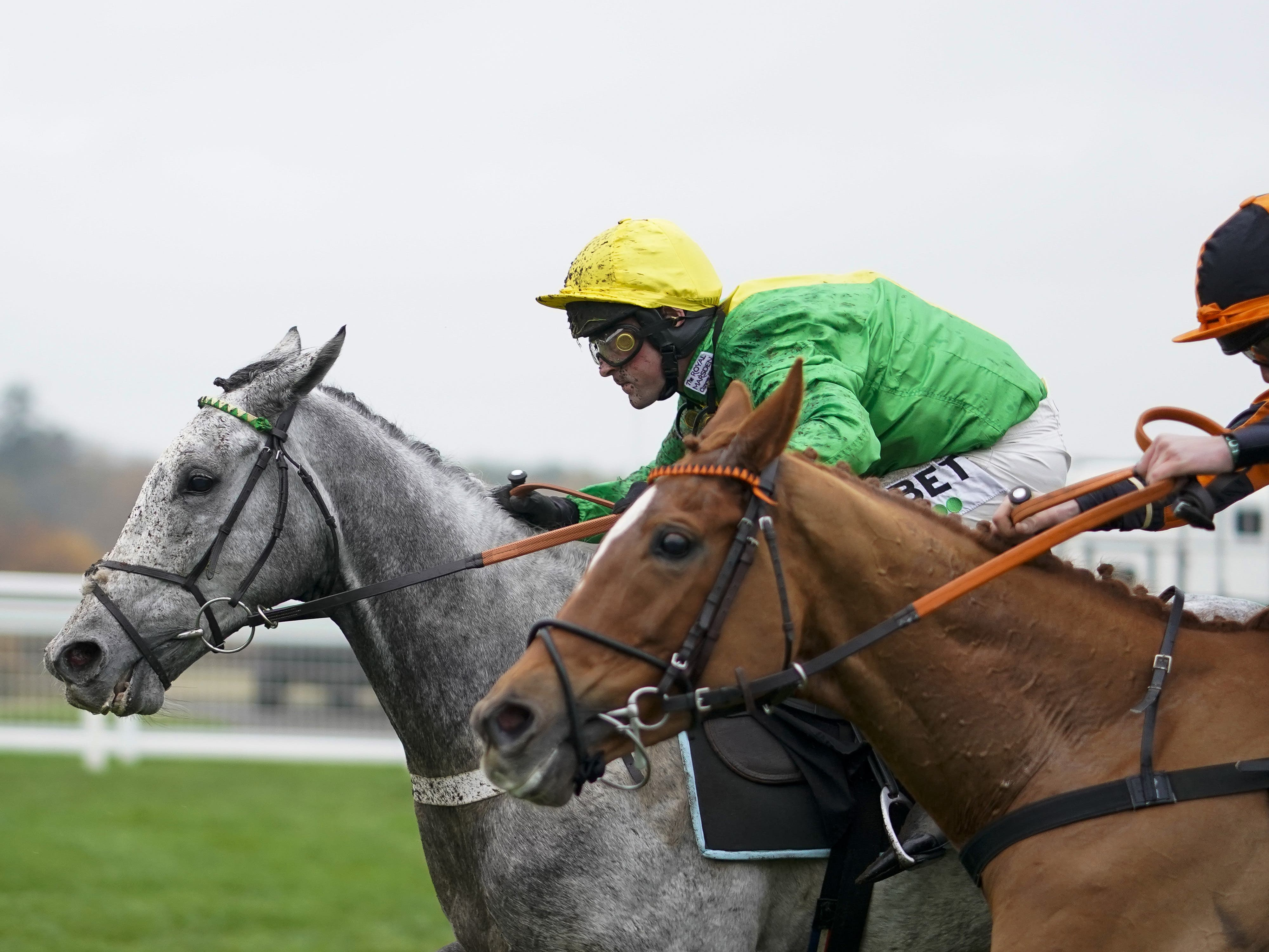 Buzz (left) on his way to victory at Ascot (Alan Crowhurst/PA)