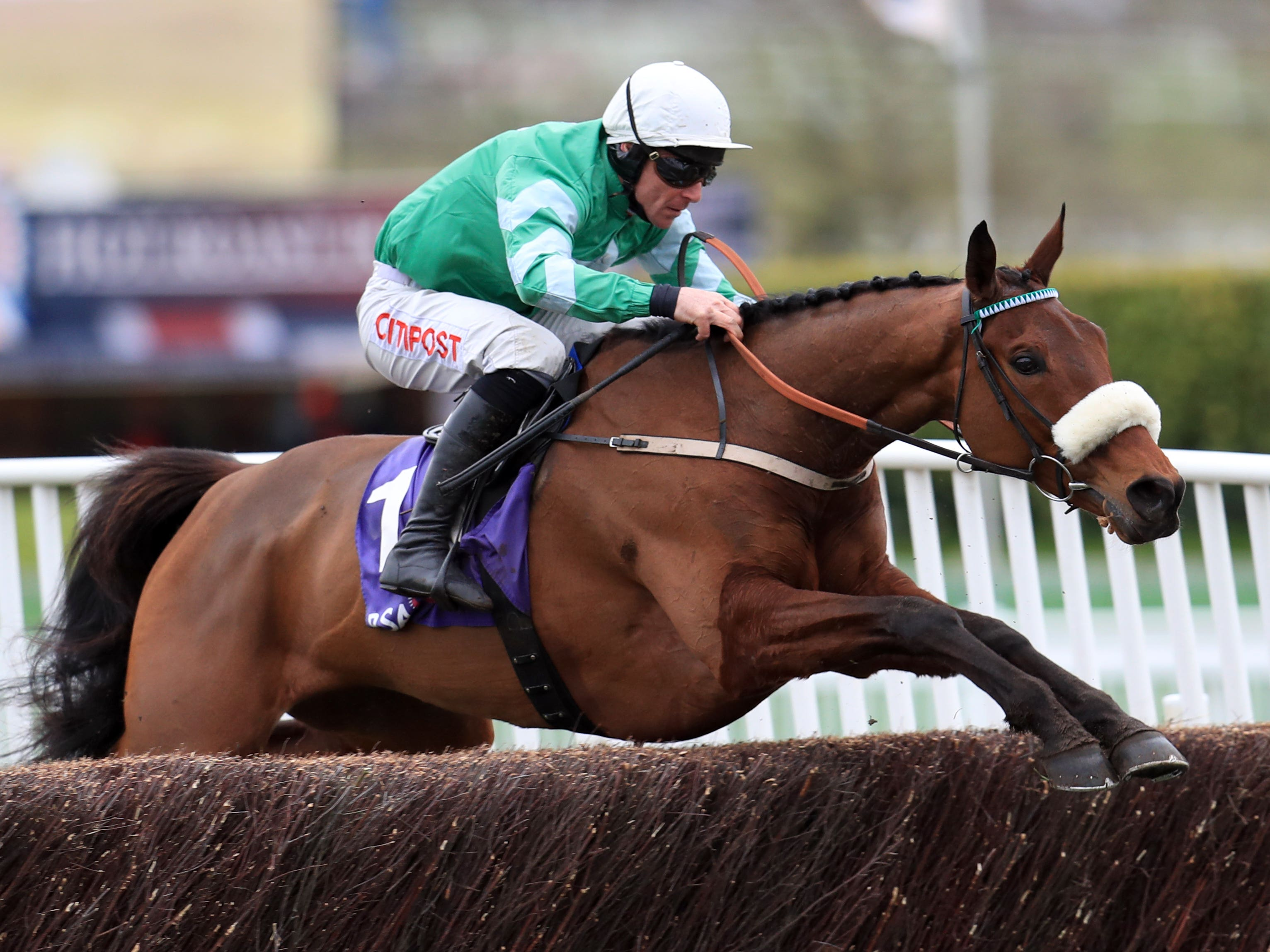 Presenting Percy on his way to winning at Cheltenham (Mike Egerton/PA)