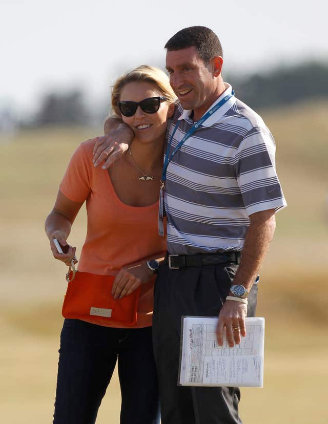 Mark Steinberg pictured with Tiger Woods' former girlfriend Lindsey Vonn