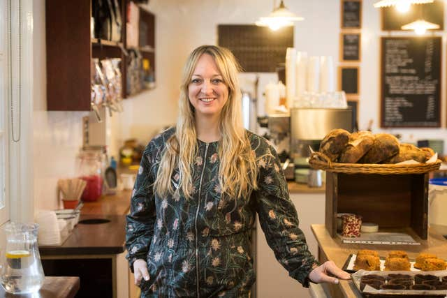 Claire Ptak, owner of Violet Bakery in Hackney, east London, who has been chosen to make the cake for the May wedding of Prince Harry and Meghan Markle (Victoria Jones/PA)