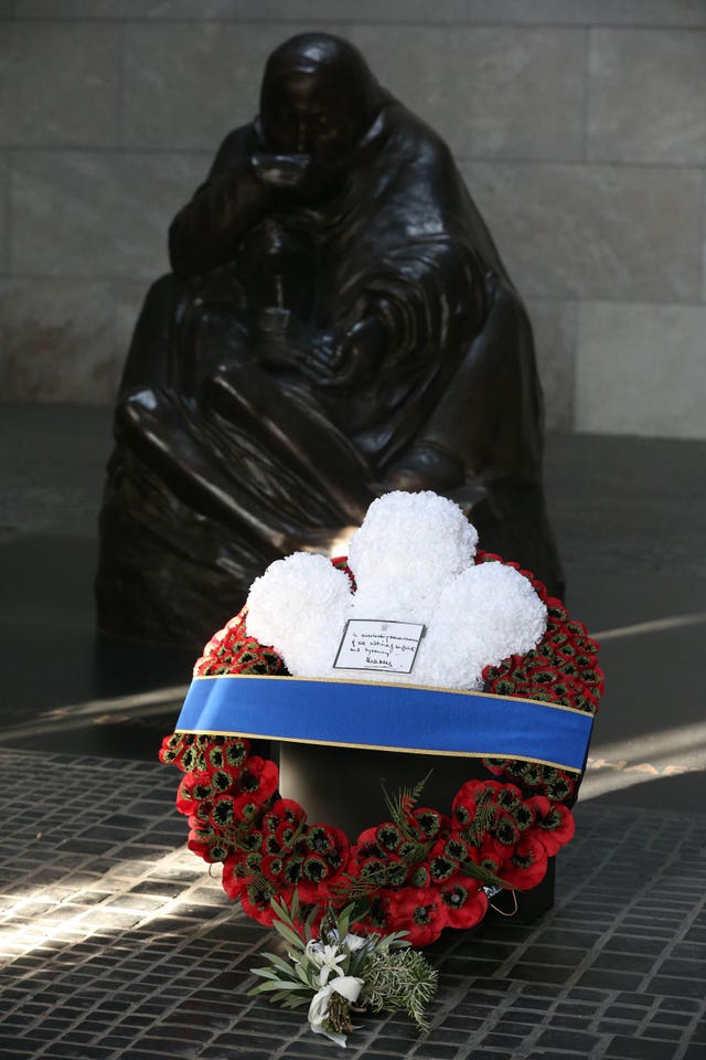 The Prince of Wales' wreath of remembrance