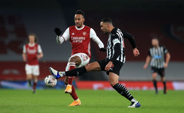 Arsenal's Pierre-Emerick Aubameyang had a quiet first half