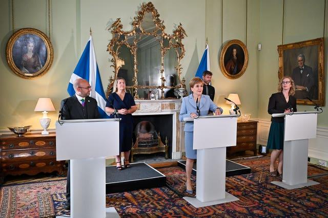 Scotland power sharing agreement